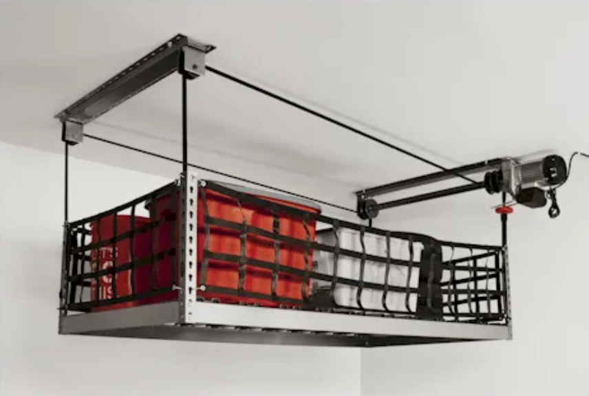 ONRAX storage system is mechanically designed for garage install