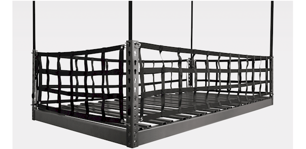 ONRAX overhead storage system is designed in pieces for easy manufacturing