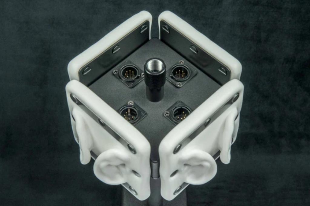 3Dio Omni Binaural Ear Shaped Microphone with microphone plug in ports