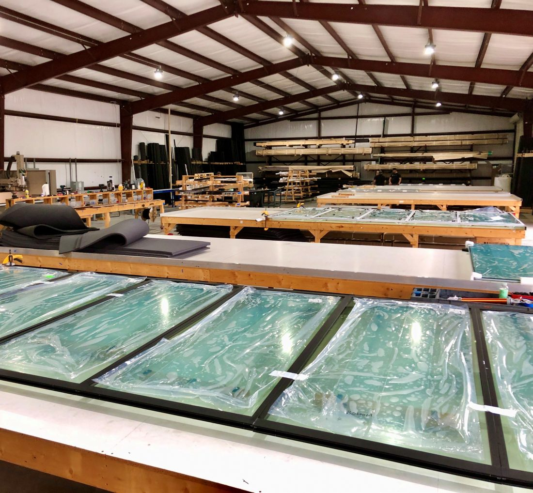 Pillar design visits client Glass Expanse production facility in Texas