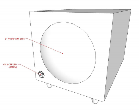 Mackie Audio Subwoofer Initial Idea to Concept Sketch