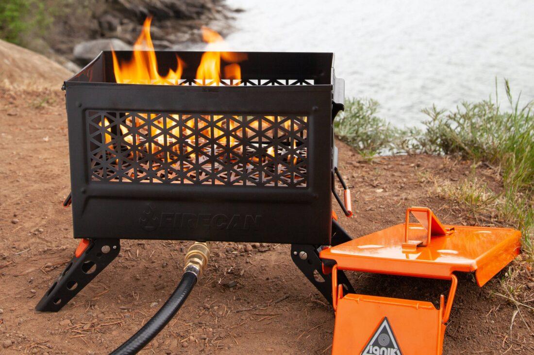 Ignik FireCan safely burns propane during a burn ban