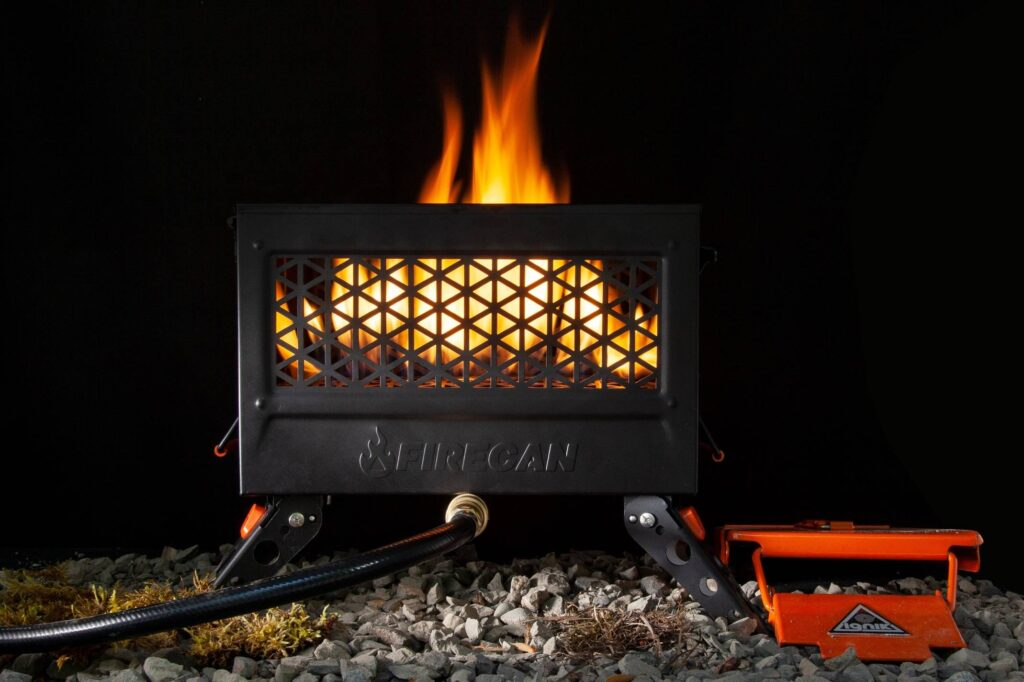 Ignik's new product design burns propane to heat campers
