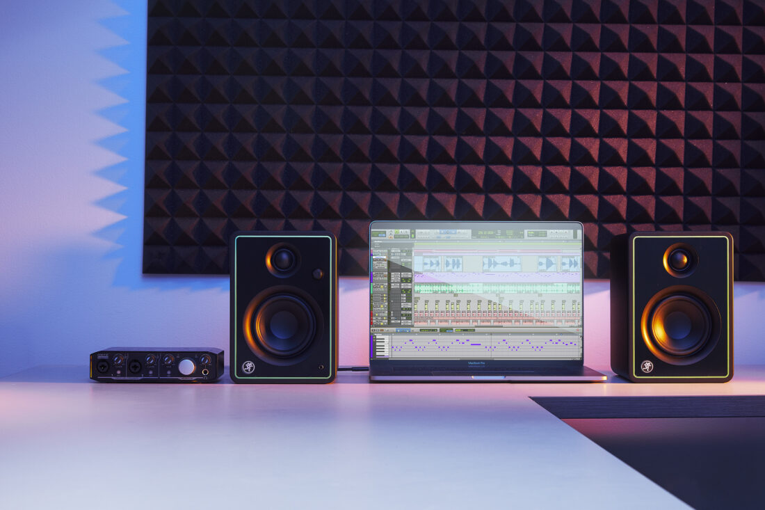 Mackie CR-X Series studio monitors feature industrial design with metal faceplate