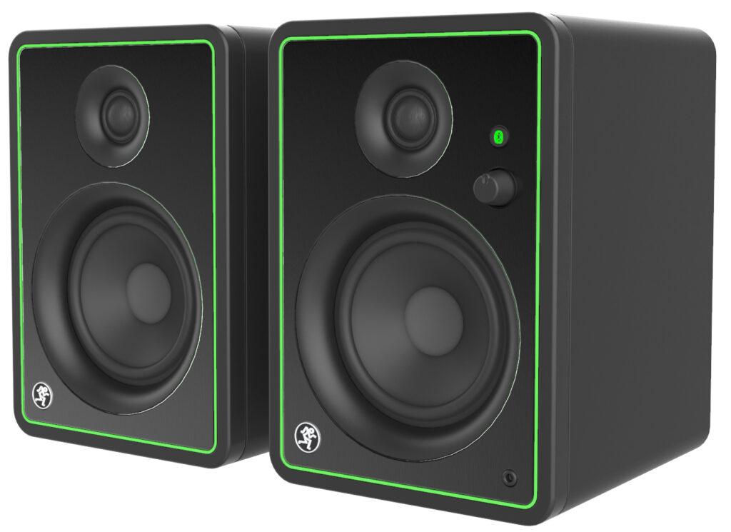 Mackie CR-X Series studio monitors sit side by side